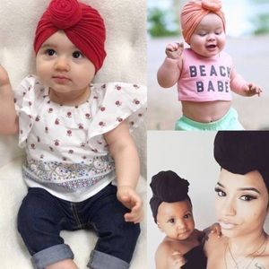 Other - Twist Style Head Bonnet for Mom & Baby, Various